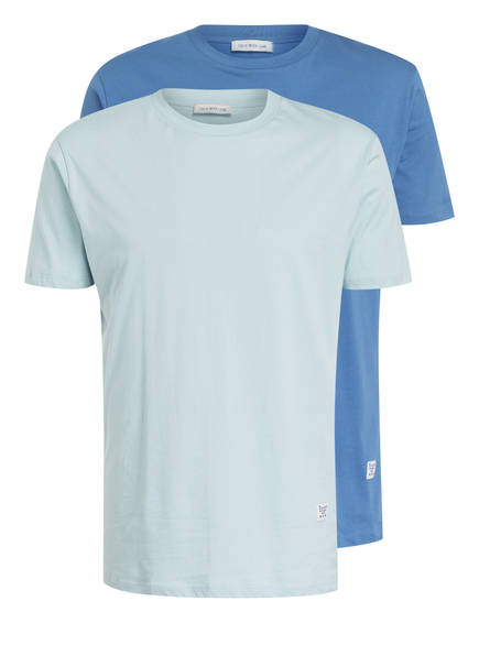 TIGER of Sweden 2er-Pack T-Shirts FLEEK , Farbe: DUNKELBLAU / MINT (Bild 1)