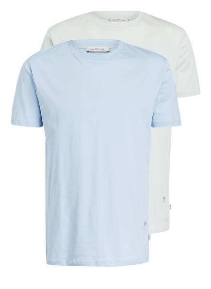 TIGER of Sweden 2er-Pack T-Shirts FLEEK , Farbe: HELLBLAU / PASTELL (Bild 1)