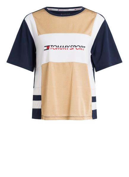 TOMMY HILFIGER T-Shirt , Farbe: NAVY/ BEIGE/ WEISS (Bild 1)