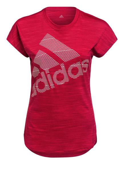 adidas T-Shirt BADGE OF SPORT, Farbe: DUNKELROT (Bild 1)