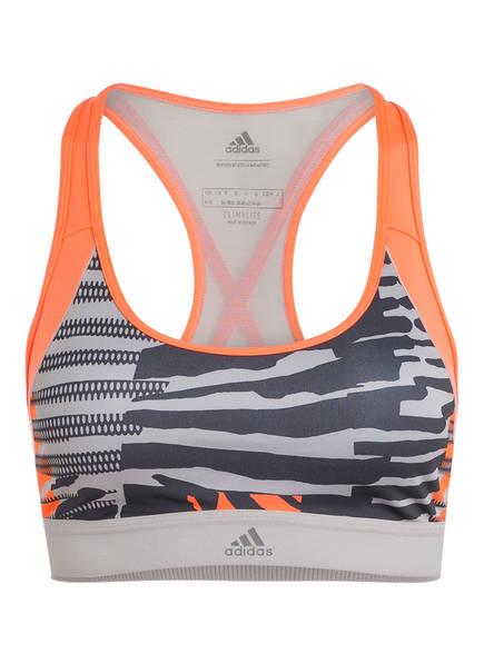 adidas Sport-BH , Farbe: GRAU/ ORANGE (Bild 1)