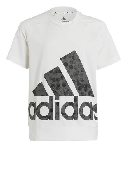 adidas T-Shirt, Farbe: WEISS/ GRAU (Bild 1)