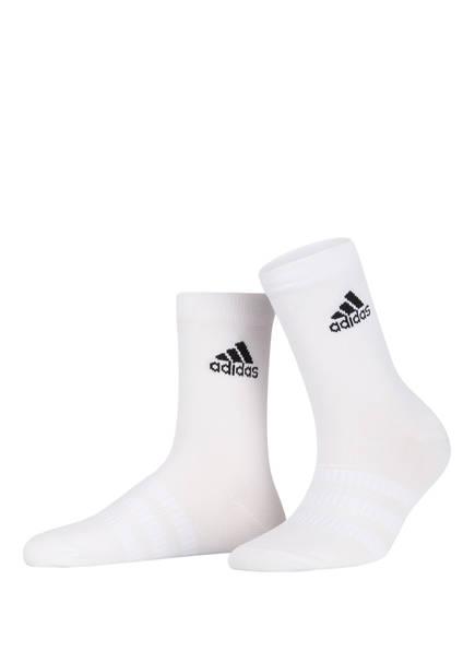 adidas 3er-Pack Socken LIGHT CREW, Farbe: WHITE/WHITE/WHITE (Bild 1)