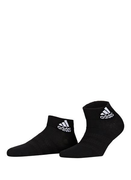 adidas 3er-Pack Socken LIGHT ANKLE, Farbe: MGREYH/WHITE/BLACK (Bild 1)