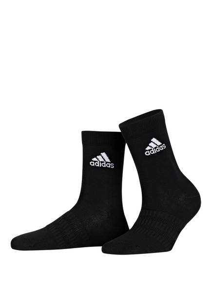 adidas 3er-Pack Sportsocken LIGHT CREW, Farbe: MGREYH/WHITE/BLACK	 (Bild 1)