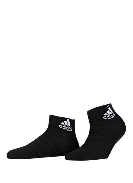 adidas 3er-Pack Socken LIGHT ANKLE, Farbe: BLACK/BLACK/BLACK	 (Bild 1)