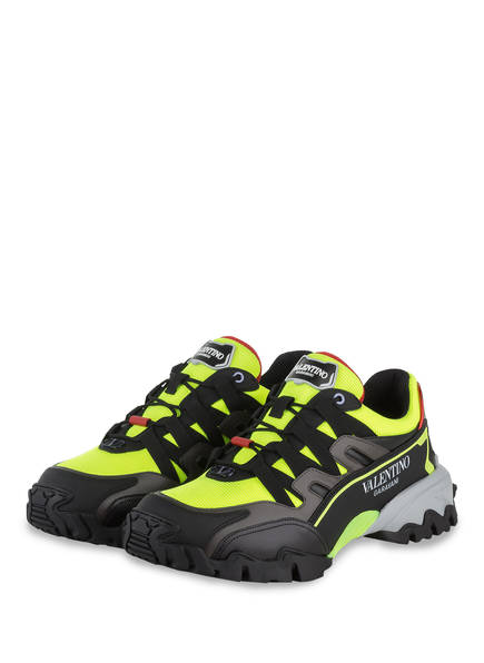 VALENTINO GARAVANI Sneaker CLIMBERS, Farbe: NEONGELB/ SCHWARZ (Bild 1)