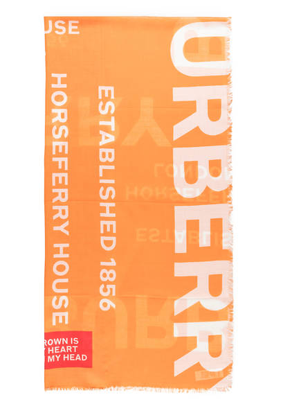 BURBERRY Schal mit Seidenanteil, Farbe: ORANGE (Bild 1)