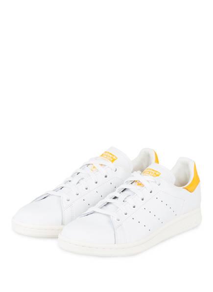 adidas Originals Stan Smith Sneaker Weiss Gelb | Streetstyle