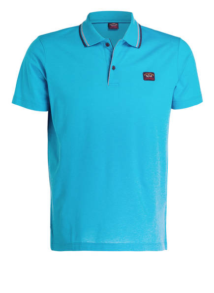 PAUL & SHARK Piqué-Poloshirt, Farbe: TÜRKIS (Bild 1)