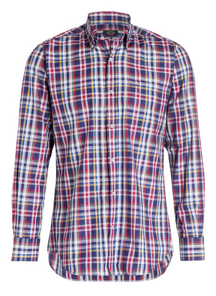 PAUL & SHARK Hemd Slim Fit, Farbe: DUNKELBLAU/ WEISS/ ROT (Bild 1)