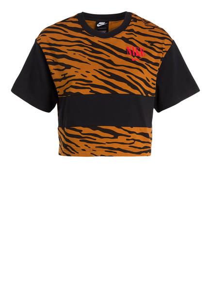 Nike Cropped-Shirt, Farbe: COGNAC/ SCHWARZ (Bild 1)