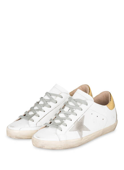 GOLDEN GOOSE DELUXE BRAND Sneaker SUPERSTAR, Farbe: WEISS/ GOLD (Bild 1)