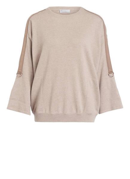 BRUNELLO CUCINELLI Cashmere-Pullover, Farbe: BEIGE MELIERT/ HELLBRAUN (Bild 1)