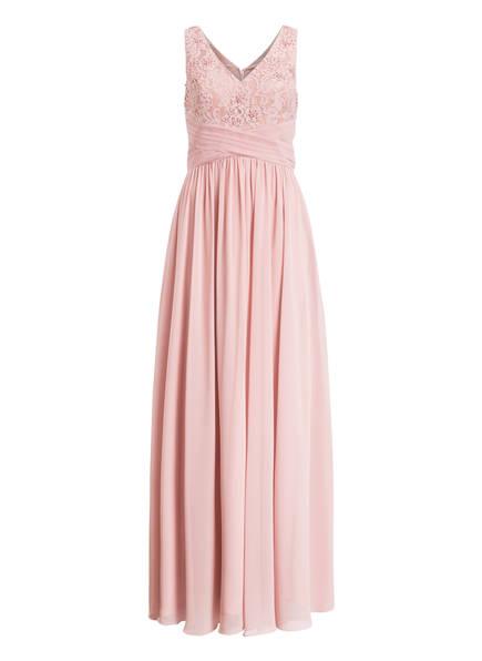 MASCARA Abendkleid mit Perlenbesatz und Stola, Farbe: ROSÉ (Bild 1)