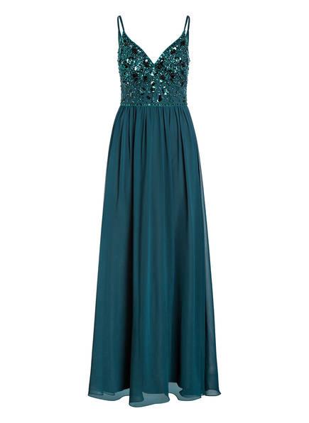 MASCARA Kleid mit Pailletten- und Glitzersteinbesatz, Farbe: DUNKELGRÜN (Bild 1)