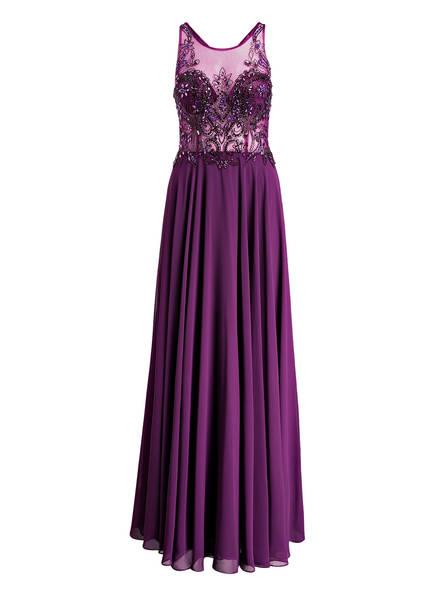 MASCARA Abendkleid mit Stola, Farbe: DUNKELLILA (Bild 1)