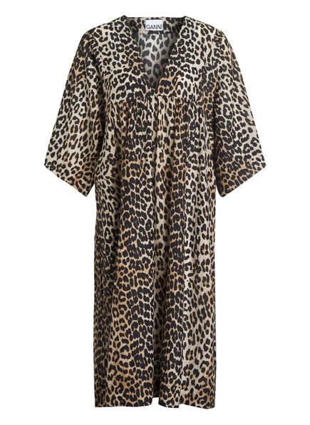GANNI Kleid , Farbe: BEIGE/ COGNAC/ SCHWARZ (Bild 1)