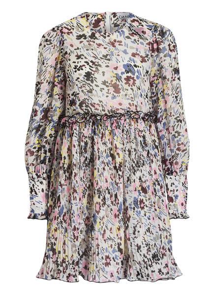 GANNI Kleid GEORGETTE, Farbe: CREME/ ROSA/ BLAU (Bild 1)