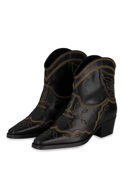 GANNI Cowboy Boots, Farbe: SCHWARZ (Bild 1)