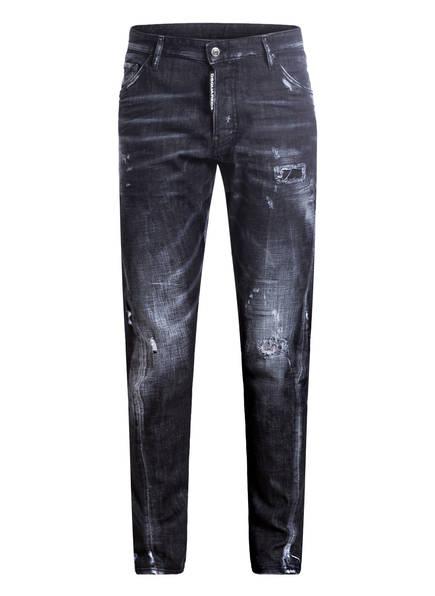 DSQUARED2 Jeans CLASSIC KENNY TWIST Slim Fit, Farbe: DENIM SCHWARZ/ WEISS (Bild 1)