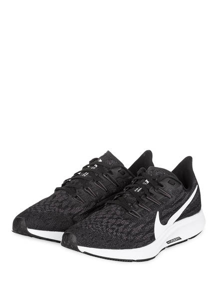 Nike Laufschuhe AIR ZOOM PEGASUS 36, Farbe: SCHWARZ/ WEISS (Bild 1)