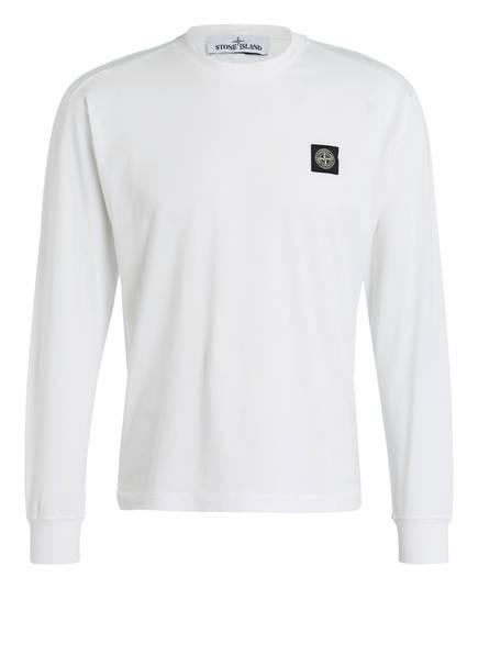 STONE ISLAND Langarmshirt, Farbe: WEISS (Bild 1)