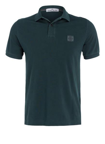 STONE ISLAND Piqué-Poloshirt Slim Fit, Farbe: PETROL (Bild 1)