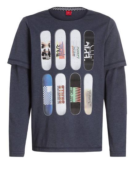 s.Oliver T-Shirt, Farbe: DUNKELBLAU MELIERT (Bild 1)