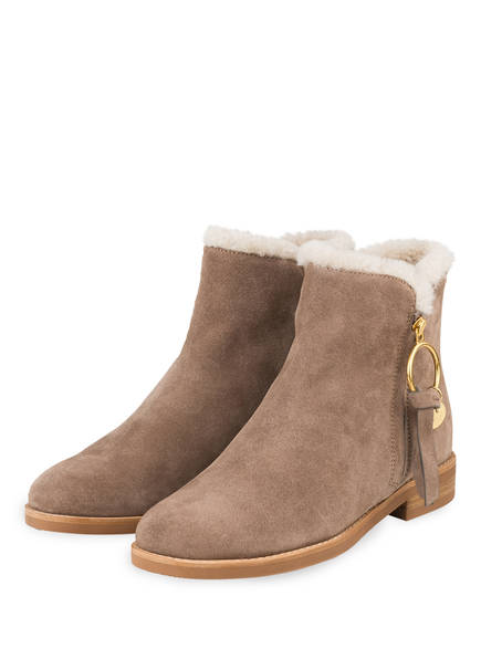 SEE BY CHLOÉ Stiefeletten LOUISE, Farbe: TAUPE (Bild 1)