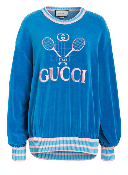GUCCI Sweatshirt, Farbe: BLAU/ ROSA (Bild 1)