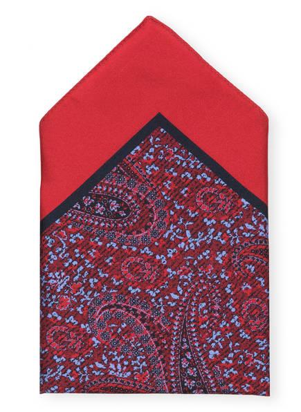 Ermenegildo Zegna Einstecktuch, Farbe: ROT/ HELLBLAU (Bild 1)