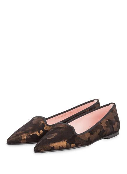Pretty Ballerinas Slipper TANZA, Farbe: SCHWARZ/ COGNAC (Bild 1)
