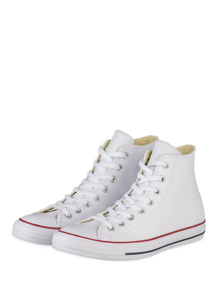 CONVERSE Hightop-Sneaker CHUCK TAYLOR ALL STAR LEATHER, Farbe: WEISS (Bild 1)