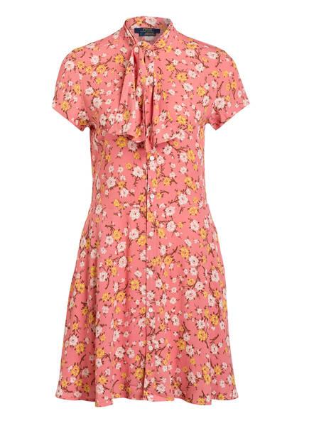 POLO RALPH LAUREN Kleid mit Schluppe, Farbe: ROSA GEMUSTERT (Bild 1)