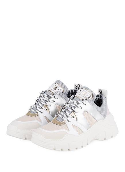 MÉLINÉ Sneaker , Farbe: WEISS/ GRAU/ NUDE (Bild 1)