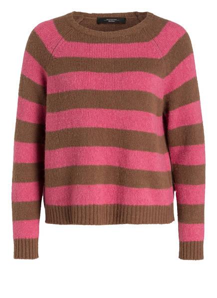 WEEKEND MaxMara Pullover CALAMO, Farbe: BRAUN/ PINK GESTREIFT (Bild 1)