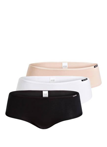 Skiny 3er-Pack Panties ADVANTAGE COTTON, Farbe: SCHWARZ/ WEISS/ NUDE (Bild 1)