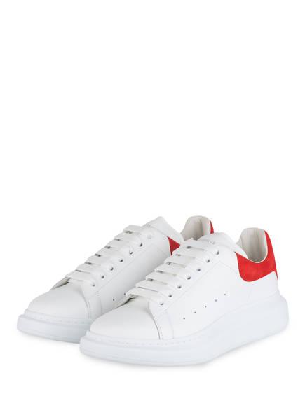 ALEXANDER McQUEEN Plateau-Sneaker, Farbe: WEISS/ ROT (Bild 1)