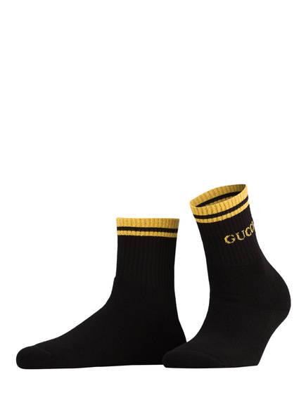GUCCI Socken, Farbe: 1075 BLACK YELLOW (Bild 1)