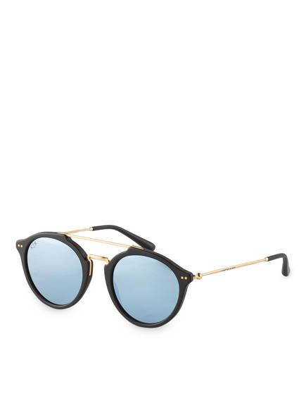KAPTEN & SON Sonnenbrille FITZROY, Farbe: SCHWARZ/ GOLD/ BLAU VERSPIEGELT (Bild 1)
