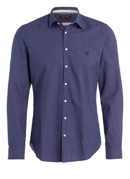 Marc O'Polo Hemd Slim Fit, Farbe: DUNKELBLAU GEMUSTERT (Bild 1)