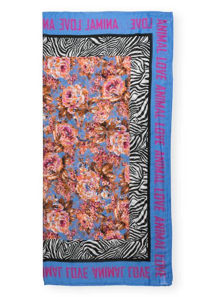 rich&royal Schal, Farbe: HELLBLAU/ ORANGE/ PINK (Bild 1)