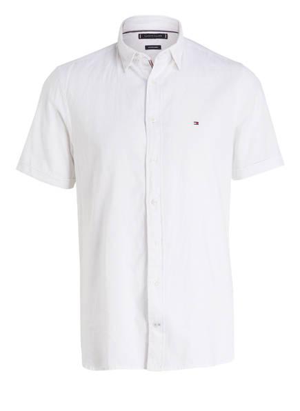 TOMMY HILFIGER Halbarm-Hemd Regular Fit, Farbe: WEISS (Bild 1)