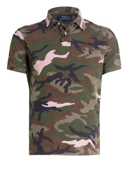 POLO RALPH LAUREN Piqué-Poloshirt, Farbe: OLIVE/ BRAUN/ SCHWARZ (Bild 1)