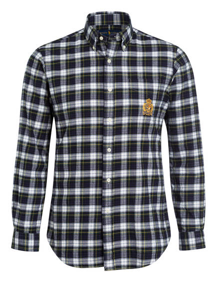 POLO RALPH LAUREN Hemd Custom Fit, Farbe: DUNKELGRÜN/ DUNKELBLAU/ WEISS (Bild 1)