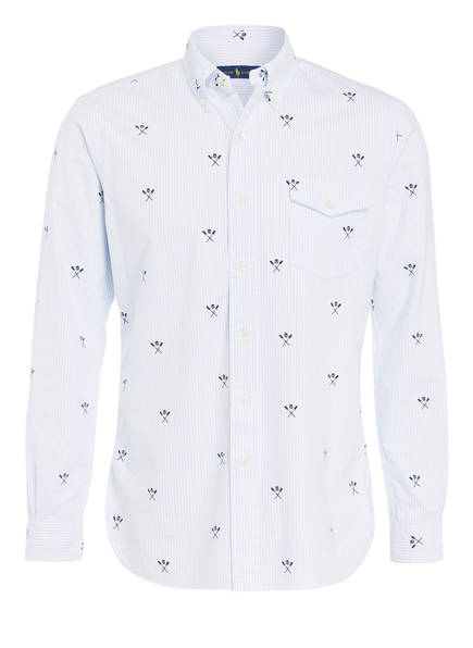 POLO RALPH LAUREN Oxford-Hemd Custom Fit , Farbe: WEISS/ HELLBLAU (Bild 1)