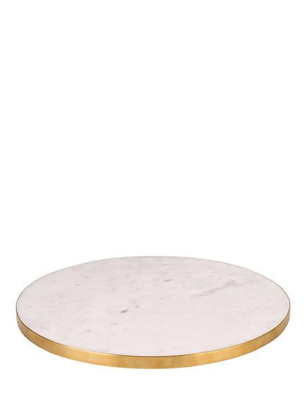 GIFTCOMPANY Marmorplatte STONE, Farbe: WEISS/ GOLD (Bild 1)