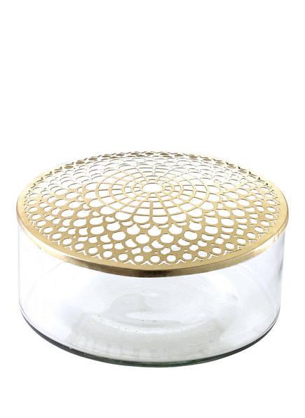 A SIMPLE MESS Vase KATHINKA, Farbe: TRANSPARENT/ GOLD (Bild 1)