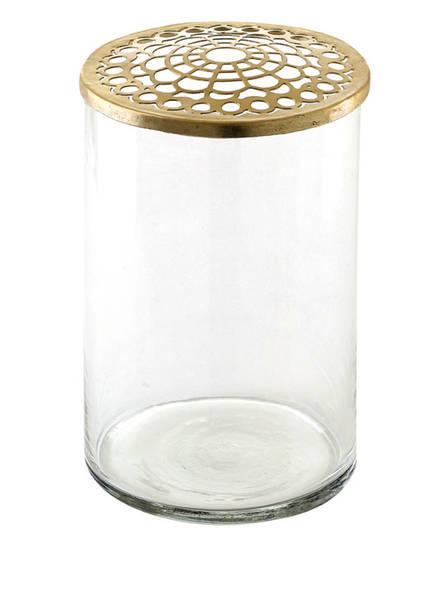 A SIMPLE MESS Vase KASSANDRA, Farbe: TRANSPARENT/ GOLD (Bild 1)